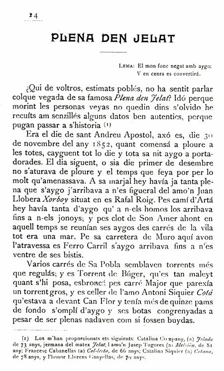 Plena den Gelat. Revista Sa Marjal