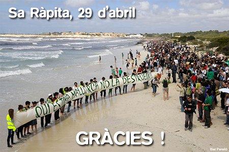 Salvem Sa Ràpita 29A - Gràcies !